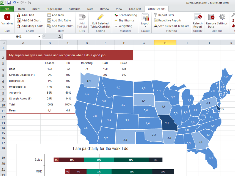 Click to view OfficeReports Analytics 6.0 screenshot